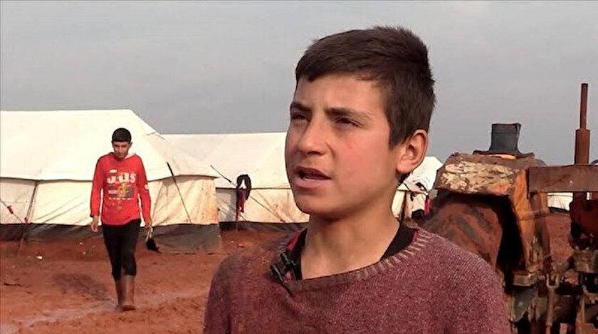 İsmail, Esed'in saldırılarından kaçıp kampa yerleşti.