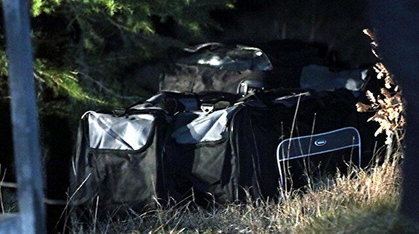 Planörden atıldığı iddia edilen çantalar