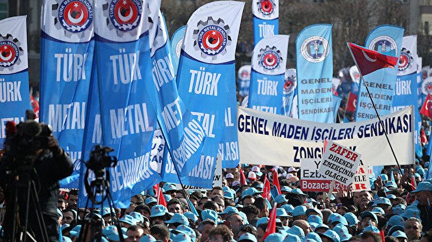 Metal işçileri'nin  19 Ocak'ta Bursa'da düzenlediği miting.