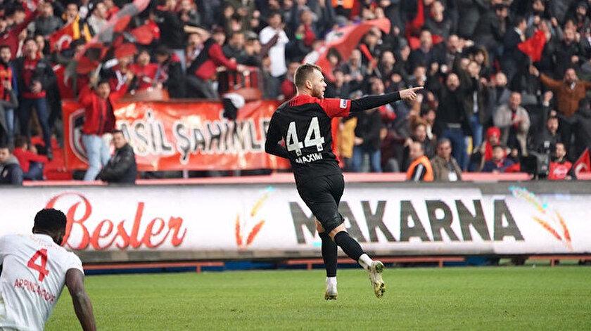 Gaziantepin yeni transferi Alexandru Maxim ilk maçında lideri yıktı