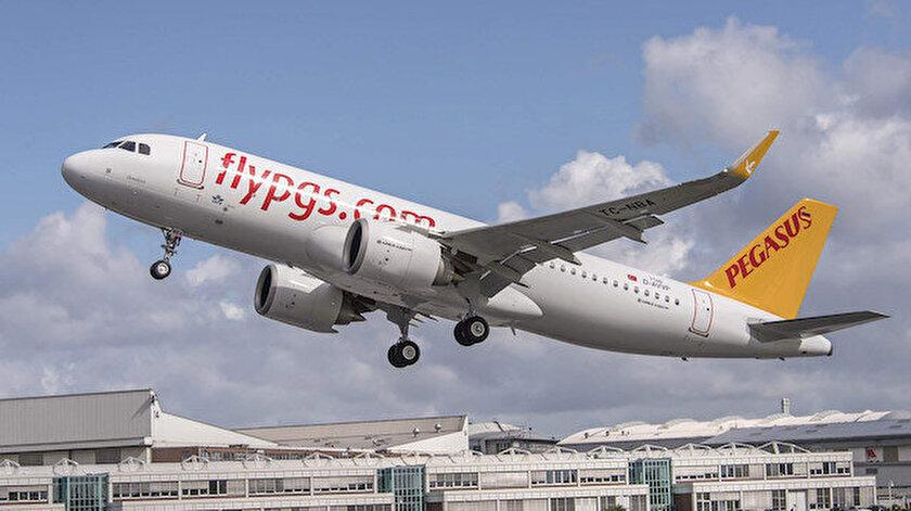 Pegasus Havayollarına ait uçak.
