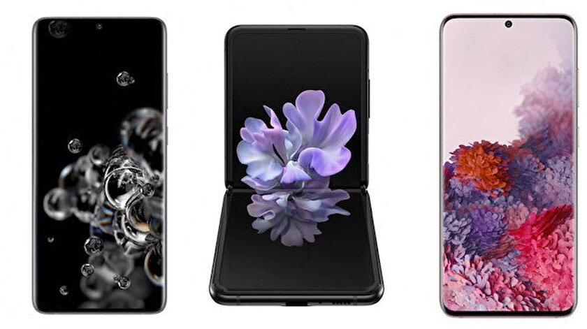 Samsung'un yeni telefonları.