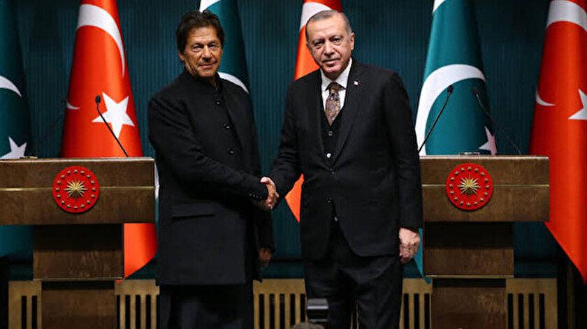 Cumhurbaşkanı Recep Tayyip Erdoğan ve Pakistan Başbakanı İmran Han