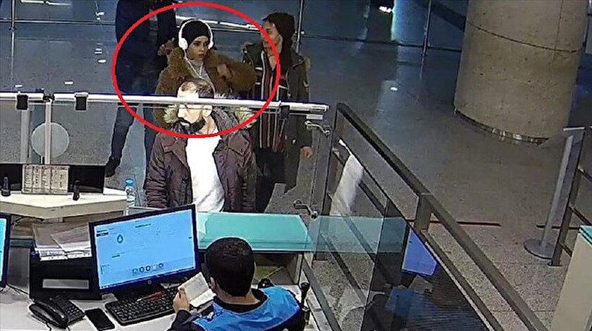Kadın kılığına giren İbrahim M, kameralara böyle yakalandı.