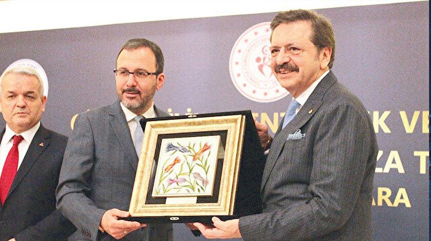 Mehmet Muharrem Kasapoğlu ve Rifat Hisarcıklıoğlu