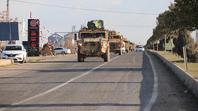 Barış Pınarı Harekatı bölgesinde askeri sevkiyat