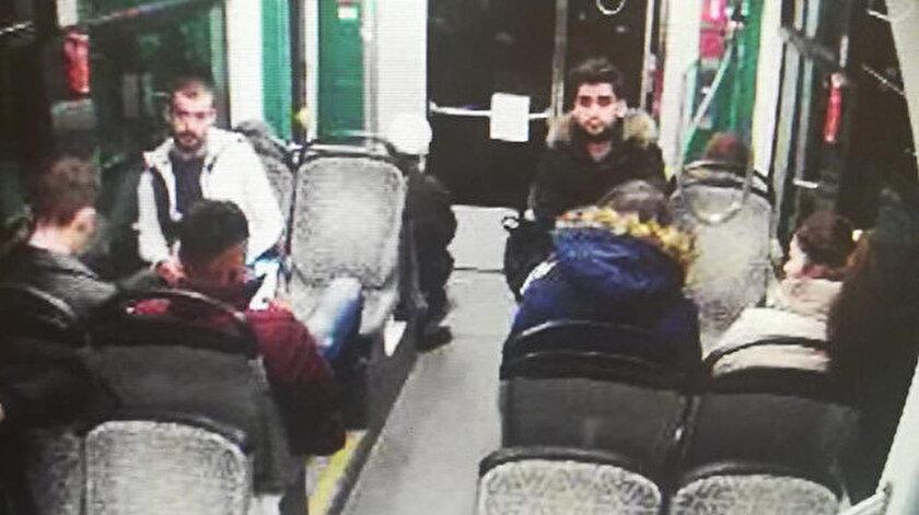 Kadir Şeker'in cinayetten hemen önce, bindiği tramvaydaki görüntüsü.