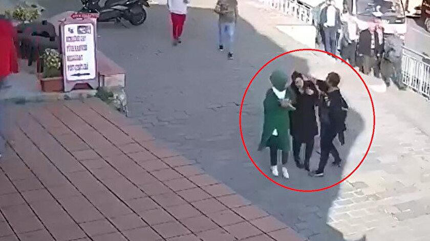 Karaköy'deki çirkin saldırı anı