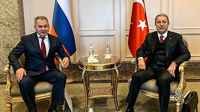 Bakan Akar, Rus mevkidaşı Şoygu ile görüştü.