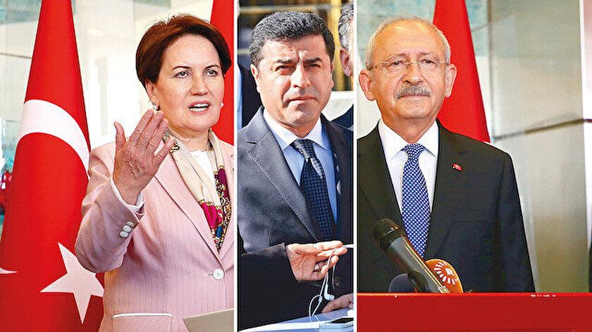 Meral Akşener, Selahattin Demirtaş ve Kemal Kılıçdaroğlu