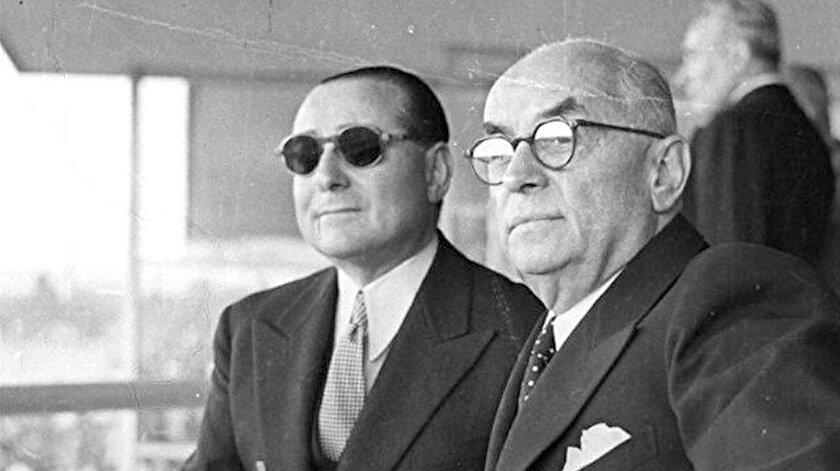 Adnan Menderes(sol) Celal Bayar(sağ)