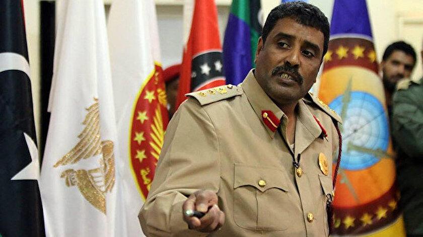Hafter'e bağlı milislerin sözcüsü Ahmed el-Mismari.