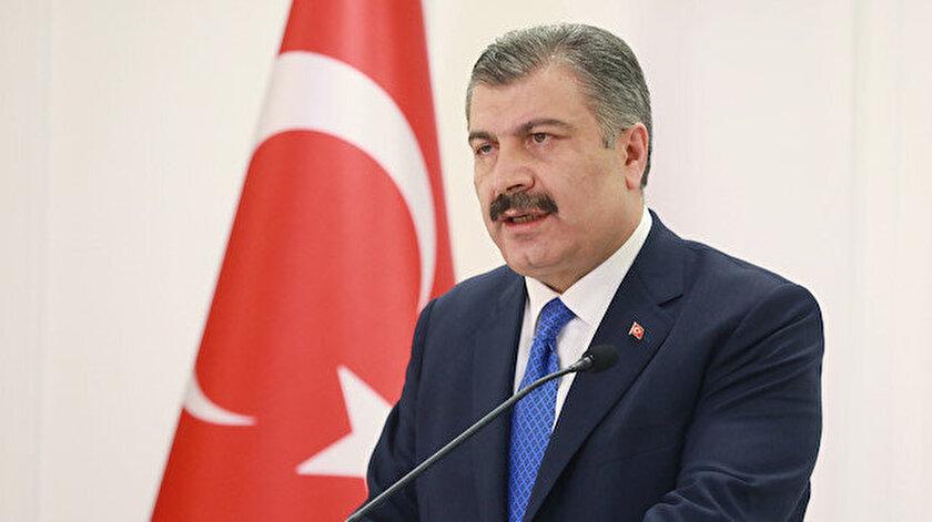 Sağlık Bakanı Fahrettin Koca açıklama yapıyor.