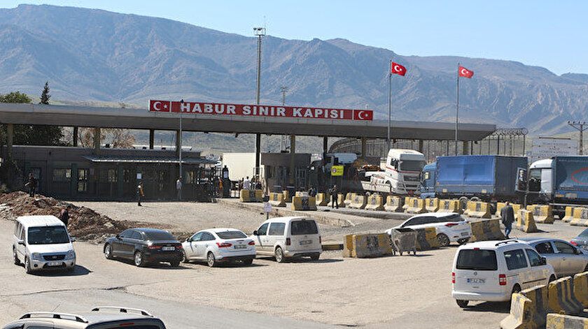 Habur–İbrahim Halil Gümrük kapılarında ihracat 'temassız' gerçekleştiriliyor