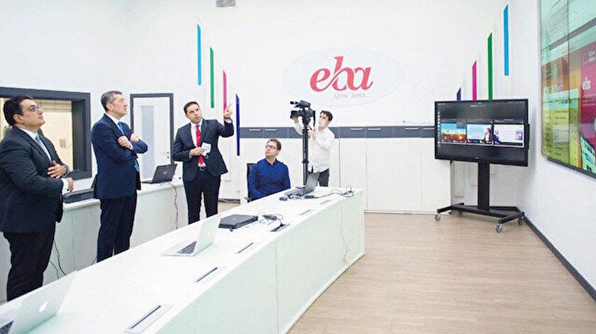 Ziya Selçuk, yeni açılan Eğitim Bilişim Ağı (EBA) Kontrol Merkezi ve EBA TV stüdyosunu ziyaret etti.