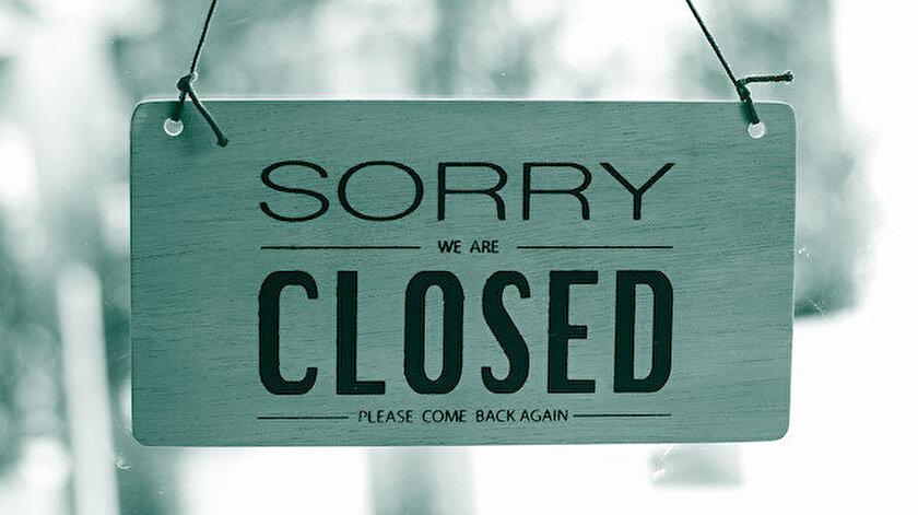 Üzgünüm kapattık. Lütfen sonra tekrar gelin!