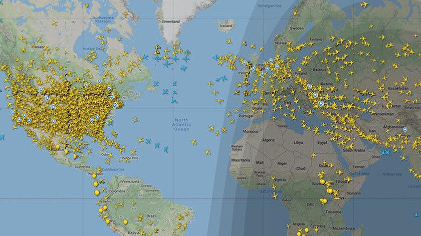ABD'deki anlık radar görüntüsünden bir kare.