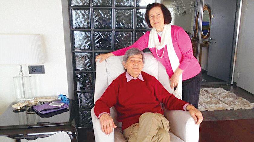 Saman Helvacıoğlu ve eşi Hatice Hanım