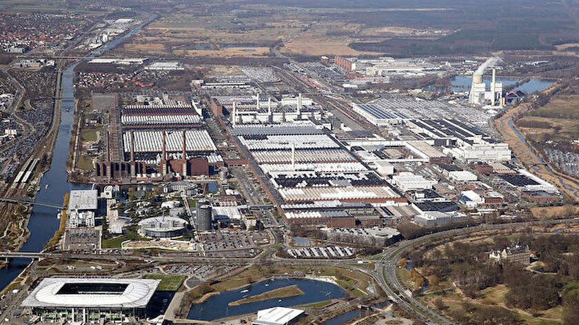 Volkswagen'in Wolfsburg'daki fabrikası.