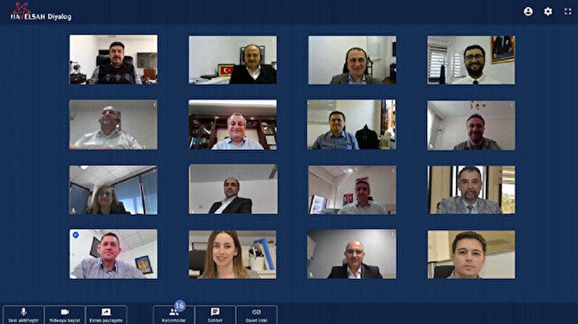 HAVELSAN'ın geliştirdiği Diyalog programı ile yapılan bir video konferans görüntüsü.