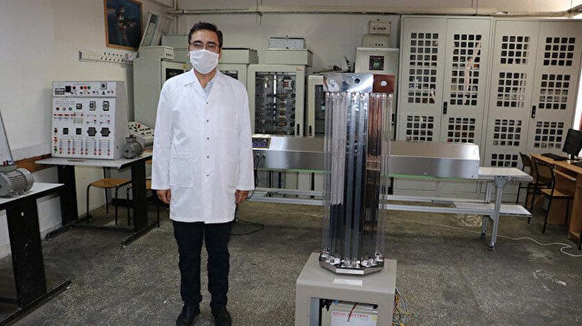 Öğretmenler virüslerin etkisizleştirilmesi için 'UV dezenfeksiyon robotu' tasarladı.