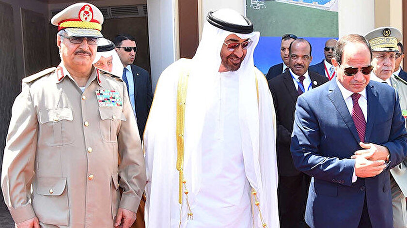 Sisi, Hafter ve Zayed.