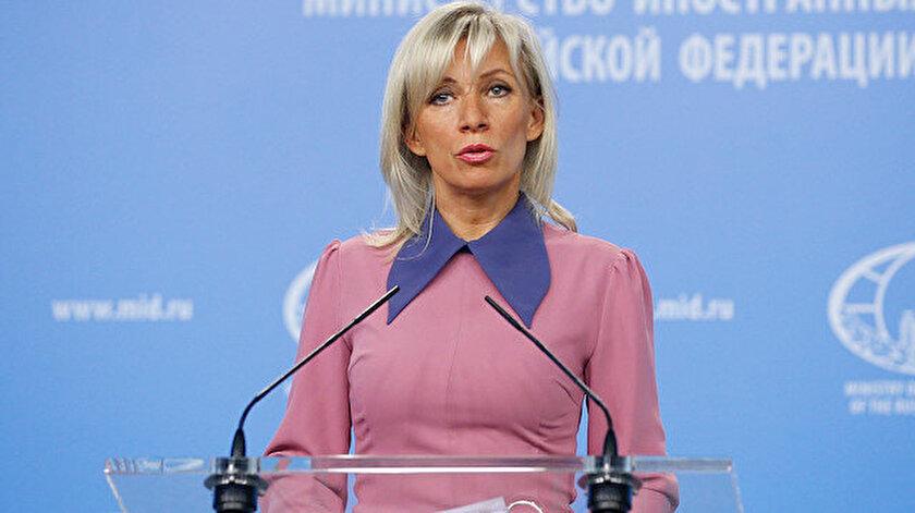 Rusya Dışişleri Bakanlığı Sözcüsü Mariya Zaharova.