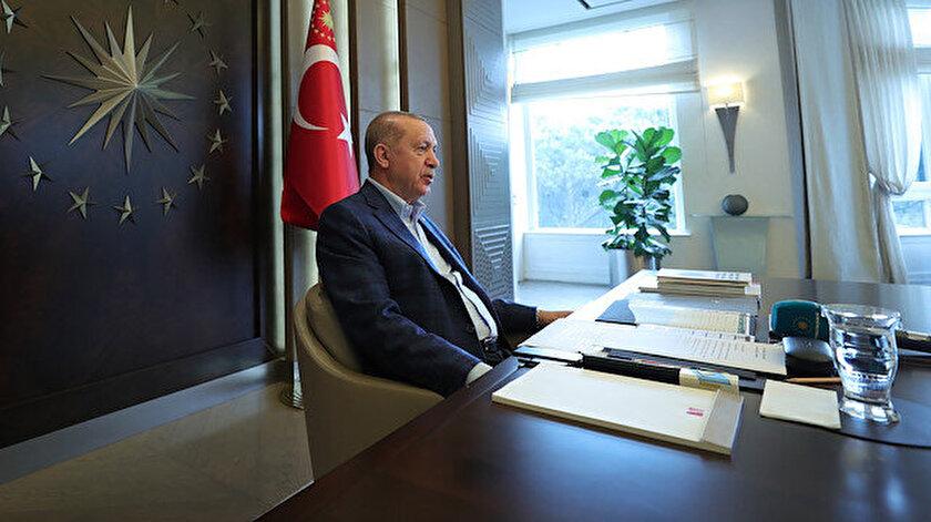 Cumhurbaşkanı Erdoğan 81 il teşkilatı ile bayramlaştı.