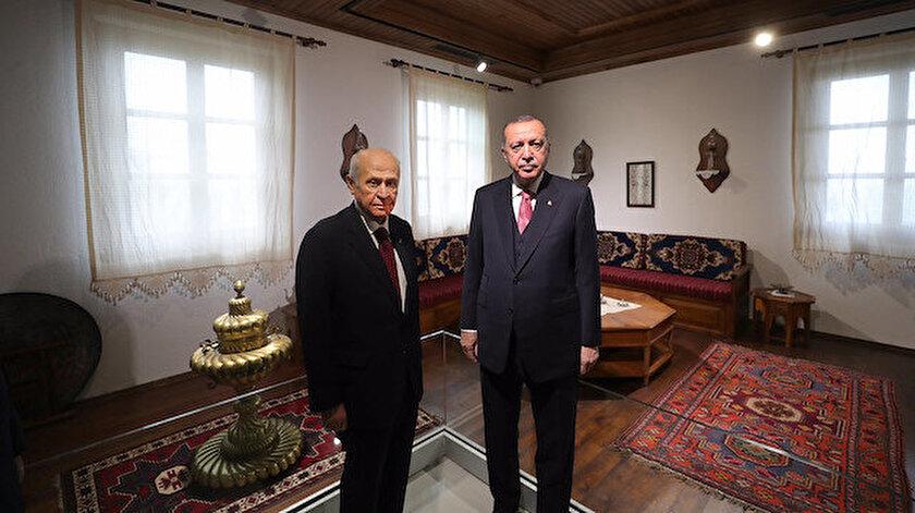 Cumhurbaşkanı Erdoğan ve MHP lideri Bahçeliden Demokrasi Adasında ilk görüntüler