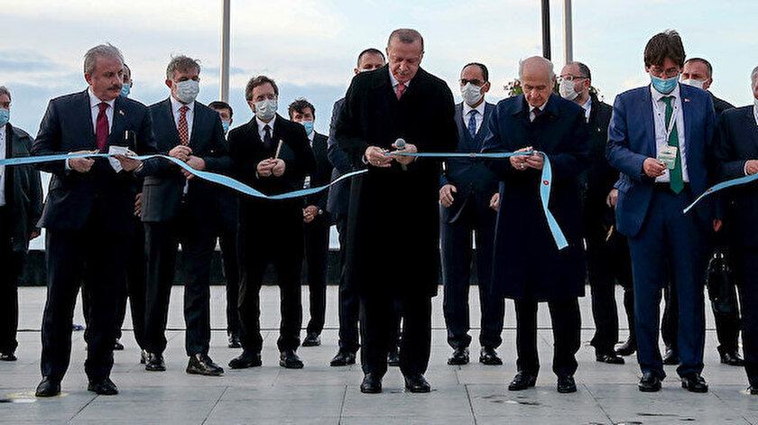 Açılışı Cumhurbaşkanı Erdoğan, MHP lideri Bahçeli ve pek çok isim birlikte yaptı.