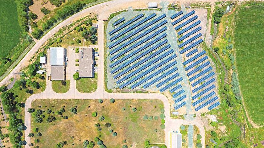 Malatya'daki atık su arıtma tesisi GES alanı
