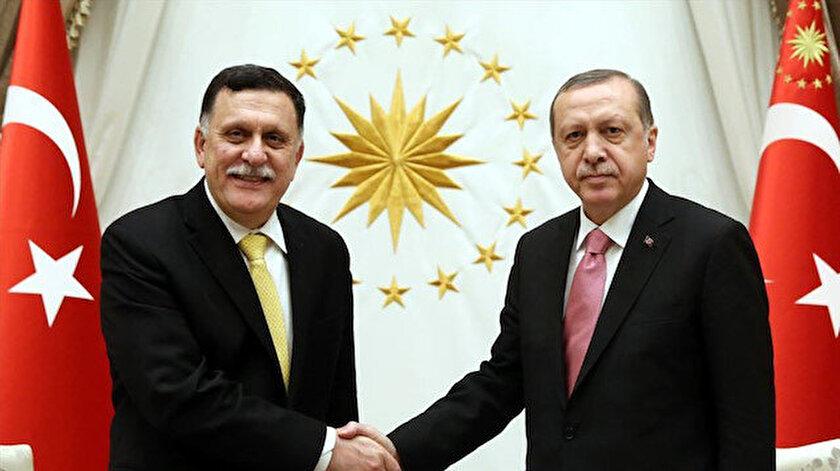 Libya Başbakanı Serrac - Cumhurbaşkanı Erdoğan (Arşiv)