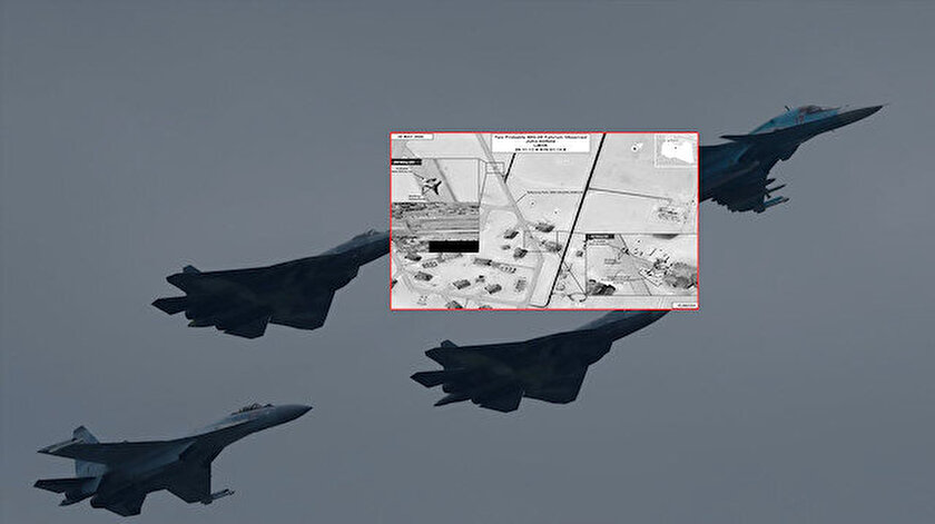 Rus uçakları Libya'daki Al Jufra Hava Üssü'ne teslim edilmişti.