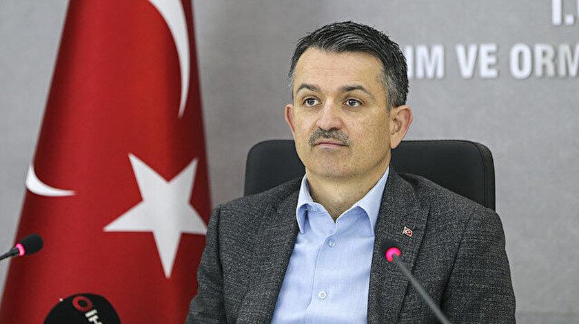 Tarım ve Orman Bakanı Pakdemirli açıklama yaptı.
