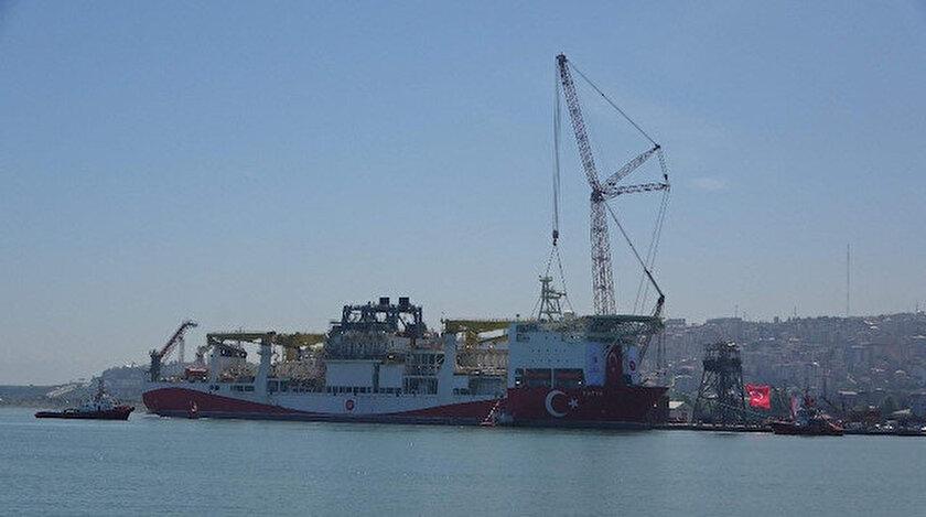 Fatih Sondaj Gemisi, Trabzon Limanı'na demir attı.