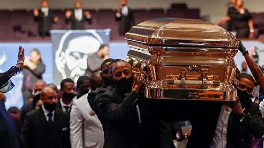 Cenaze için düzenlenen üç ayrı törende de binlerce insan siyahi Amerikalı Floyd'un tabutunu ziyaret ederek saygı duruşunda bulunmuştu.