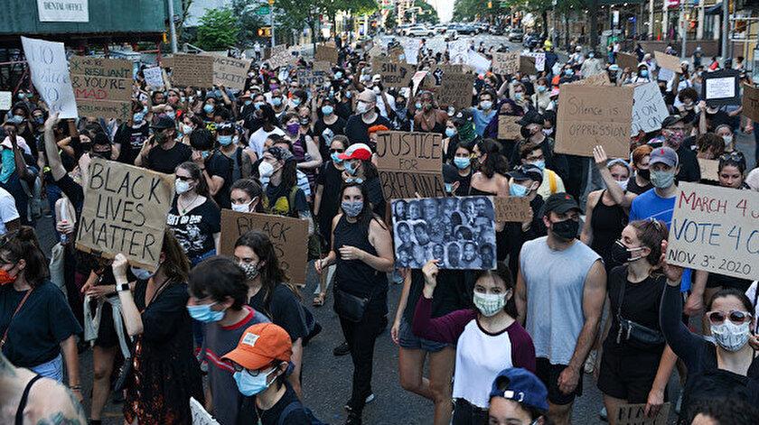 New York'ta gösteriler 15 gündür devam ediyor.