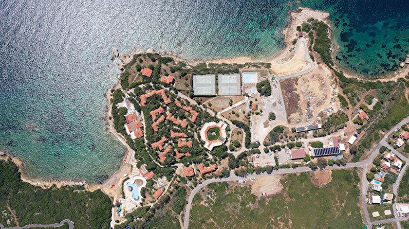 Albayrak Grubu bünyesinde bulunan Sığacık'taki Teos Village Hotel'in havadan görüntüsü.