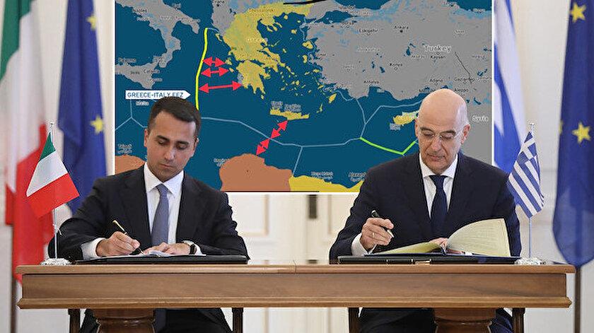 Yunan ve İtalyan dışişleri bakanları anlaşmaya imza attı.