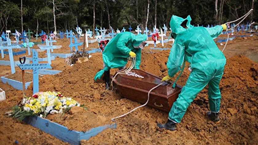 Koronavirüs salgınında üç ülkede ölümler zirve yaptı: Son 24 saatte Brezilyada 641, Meksikada bin 44, Hindistanda 445 kişi öldü