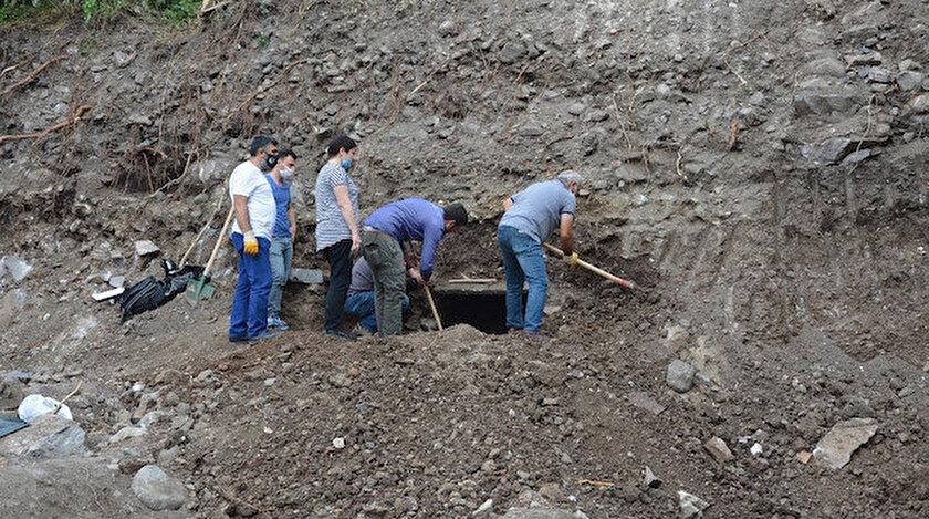 Tokat Müze Müdürlüğü görevlileri bir kısmı kazı sırasında hasara uğrayan mezarda inceleme yaptı.