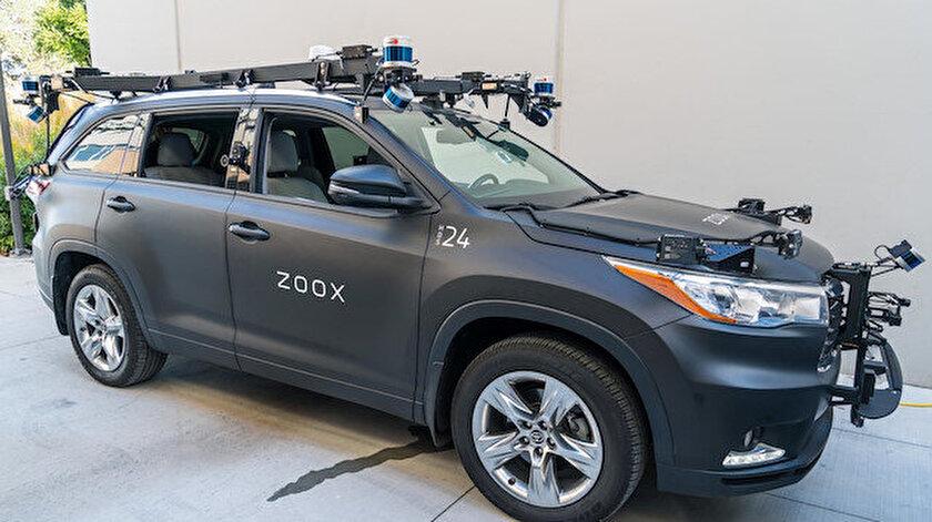 Amazon'un satın aldığı ZOOX şirketinin ürettiği arabanın bir örneği