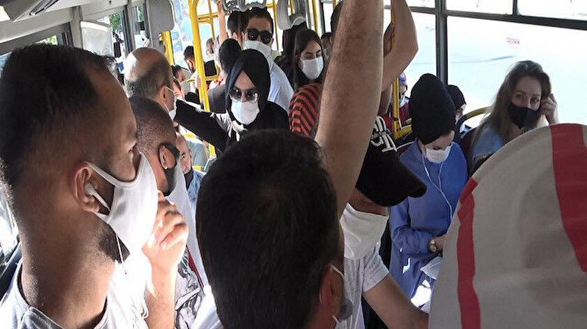 14 kişinin bulunması gereken minibüsten 37 kişi çıktı.