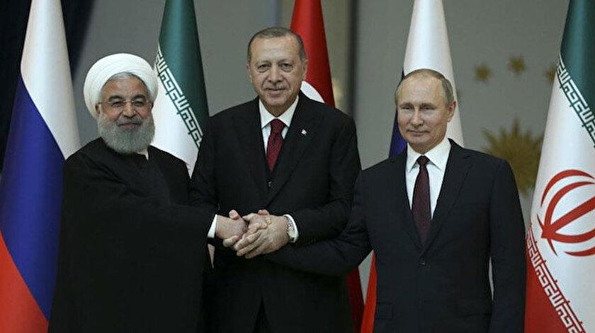 İran Cumhurbaşkanı Ruhani - Cumhurbaşkanı Erdoğan- Rusya Devlet Başkanı Putin (Foto: Arşiv)