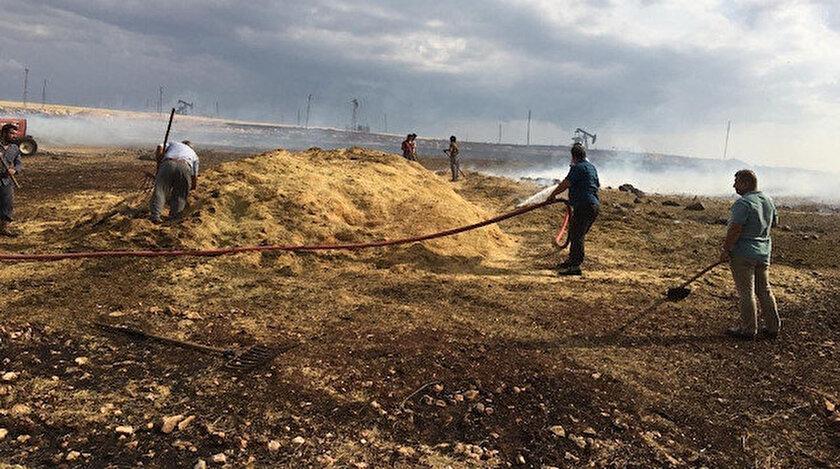 İtfaiye ekiplerinin müdahalesi sonucu yangın büyümeden söndürüldü.