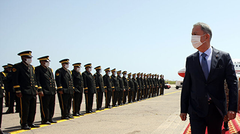 Milli Savunma Bakanı Akar, Libya'da.