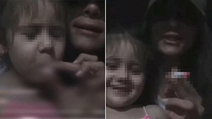 Küçük kardeşini canlı yayında sigara içmeye zorlayan Betül Aşçı'nın görüntüleri infiale neden oldu.