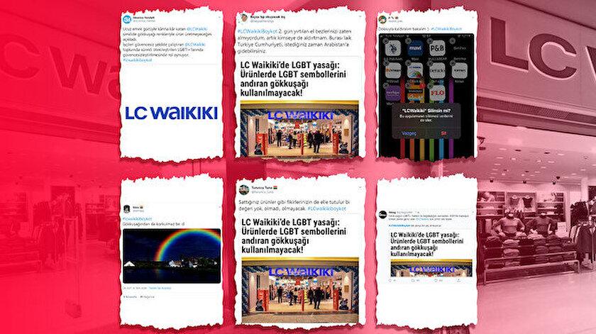 LGBT lobileri devrede: Gökkuşağı figürünü kullanmama kararı alan LC Waikikiye boykot başlattılar