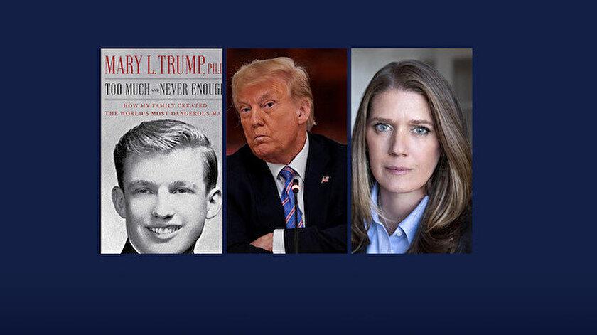 """Mary Trump, kitabında amcası Donald Trump'ı """"dünyanın sağlığı, ekonomik güvenliği ve sosyal dokusunu tehdit eden biri"""" olarak tanımlıyor."""