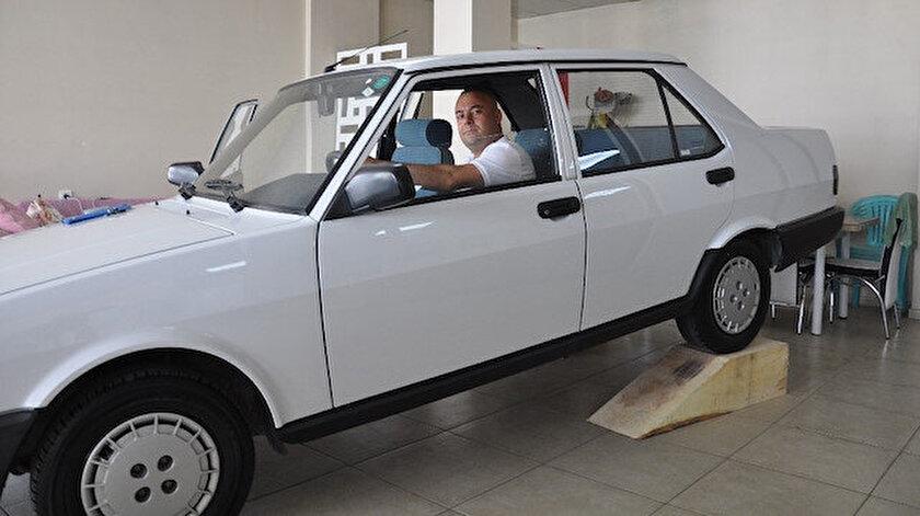 Hacı Ömer Kalender, 1994 model orijinal Tofaş Şahin marka aracını 66 bin liraya satılığa çıkardı.